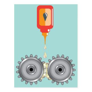 Vector de engrase de los engranajes tarjeta postal