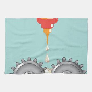Vector de engrase de los engranajes toallas