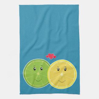 Vector de Kawaii del amor del limón y de la cal Toallas