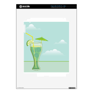 Vector de la bebida fresca iPad 2 skins