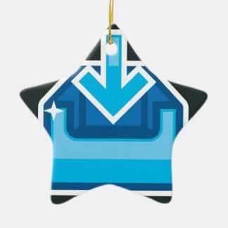 Vector de la caja de icono de la transferencia adorno navideño de cerámica en forma de estrella