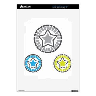 Vector de la estrella calcomanía para el iPad 2