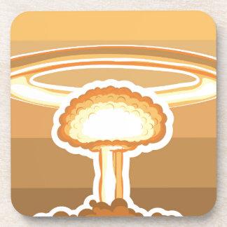 Vector de la explosión nuclear posavasos de bebida