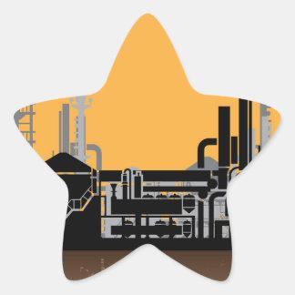Vector de la fábrica pegatina en forma de estrella