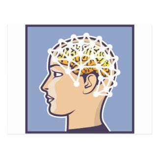 Vector de la lectura de la onda cerebral de EEG Postal