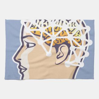 Vector de la lectura de la onda cerebral de EEG Toallas