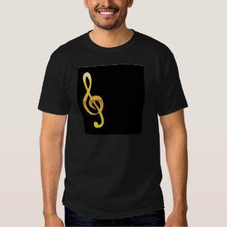 Vector de la llave de la música del Clef del oro Camisas