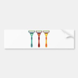 Vector de la maquinilla de afeitar pegatina para auto
