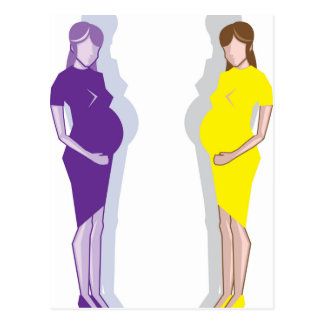 Vector de la mujer embarazada tarjetas postales