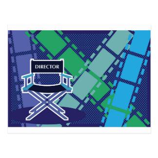 Vector de la película de la silla de los tarjetas postales