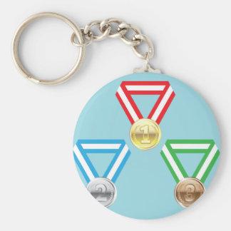 Vector de las medallas de la recompensa llavero redondo tipo pin