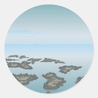 vector de los paisajes de los accesorios pegatina redonda