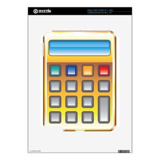 Vector de oro de la calculadora iPad 2 skin