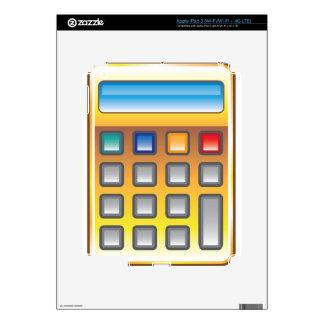 Vector de oro de la calculadora pegatina skin para iPad 3