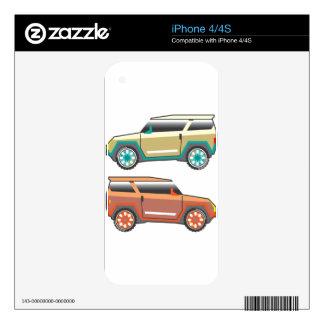 Vector de SUV nervioso iPhone 4 Calcomanías