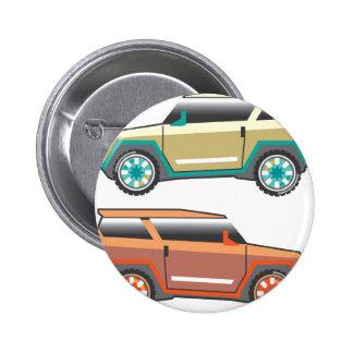 Vector de SUV nervioso Pin Redondo De 2 Pulgadas