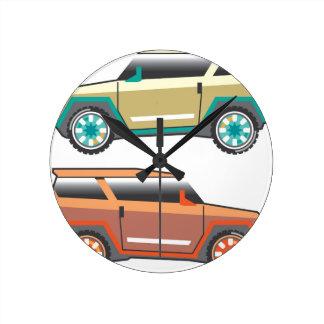 Vector de SUV nervioso Reloj Redondo Mediano