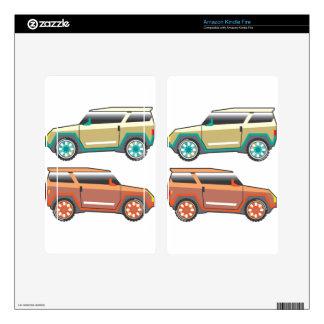 Vector de SUV nervioso Skins Para Kindle Fire