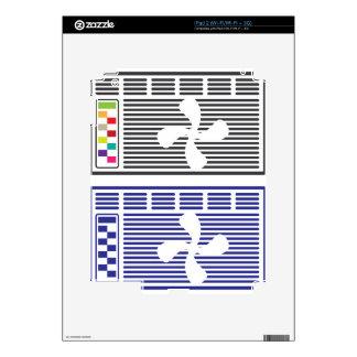 Vector del acondicionador de aire calcomanía para iPad 2