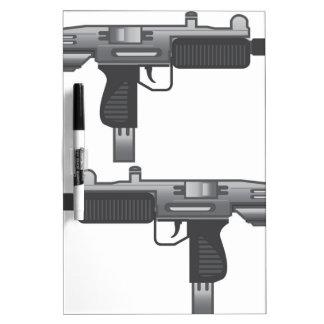 Vector del arma de Uzi Pizarra Blanca