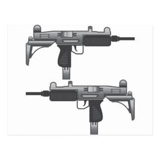 Vector del arma de Uzi Tarjeta Postal