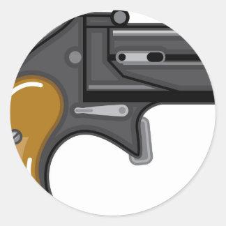 Vector del arma del Derringer Pegatina Redonda