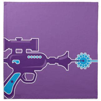 Vector del arma del laser servilleta de papel