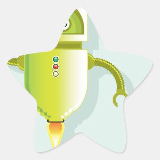 Vector del ayudante de los medios pegatina en forma de estrella