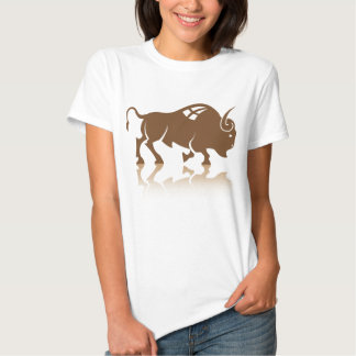 Vector del búfalo del bisonte camisas