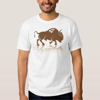 Vector del búfalo del bisonte playera