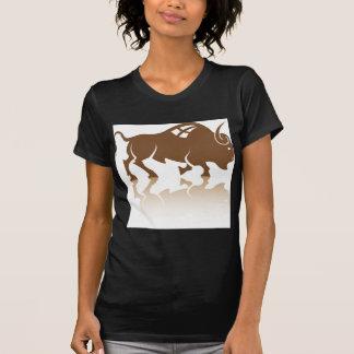 Vector del búfalo del bisonte remeras
