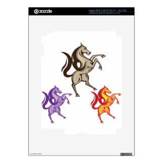 Vector del caballo salvaje pegatina skin para iPad 3