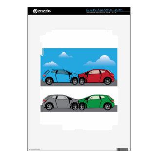 Vector del choque de coche pegatina skin para iPad 3