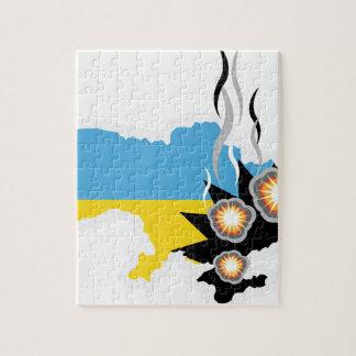 Vector del conflicto de Ucrania Puzzle