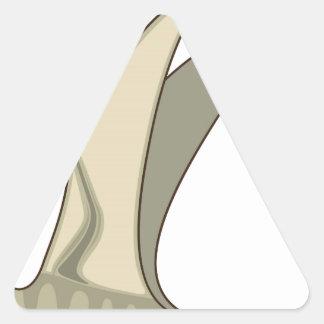 Vector del dinosaurio del vuelo pegatina triangular