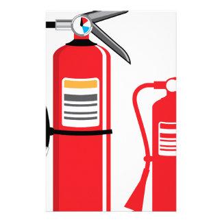 Vector del extintor papelería de diseño