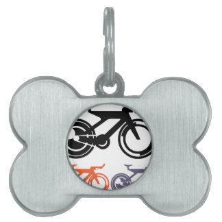Vector del icono de la bicicleta placa de mascota
