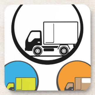 Vector del icono del camión de reparto posavaso