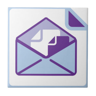 Vector del icono del sobre azulejo cuadrado pequeño