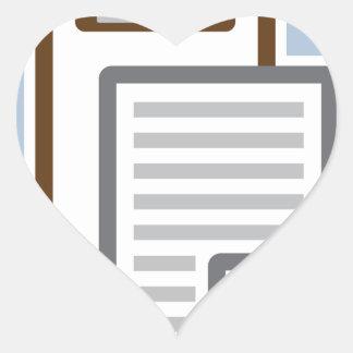 Vector del icono del tablero pegatina en forma de corazón