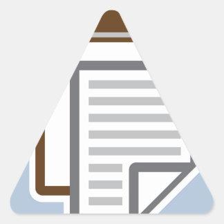 Vector del icono del tablero pegatina triangular