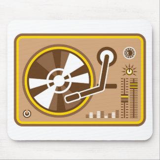 Vector del jugador del vinilo mousepad