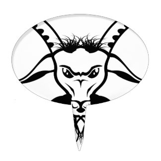 Vector del mal del diablo de Satan de la cabra Palillos De Tarta
