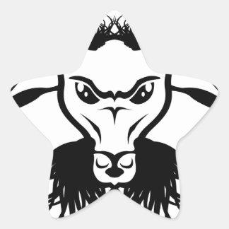 Vector del mal del diablo de Satan de la cabra Pegatina En Forma De Estrella
