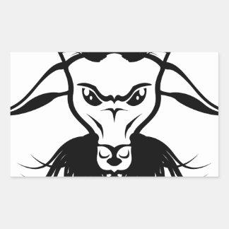Vector del mal del diablo de Satan de la cabra Pegatina Rectangular