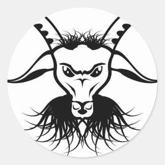 Vector del mal del diablo de Satan de la cabra Pegatina Redonda
