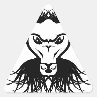Vector del mal del diablo de Satan de la cabra Pegatina Triangular