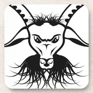 Vector del mal del diablo de Satan de la cabra Posavasos De Bebidas