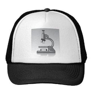 Vector del microscopio gorros