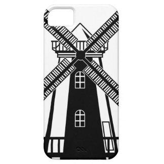Vector del molino de viento B/W iPhone 5 Carcasas